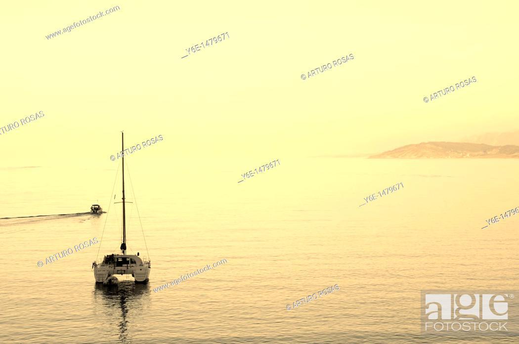 Stock Photo: Boat in Lastres Asturias, Spain.