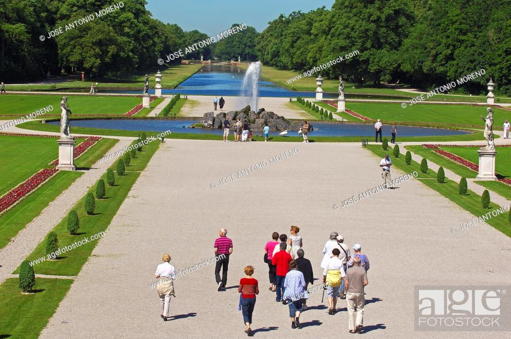 Stock Photo: Nymphenburg Palace (Schloss Nymphenburg in German), Munich, Bavaria, Germany.