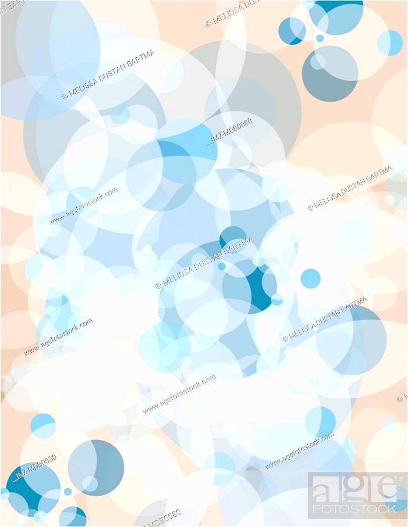 Stock Photo: A blue and tan bubble burst pattern illustration.