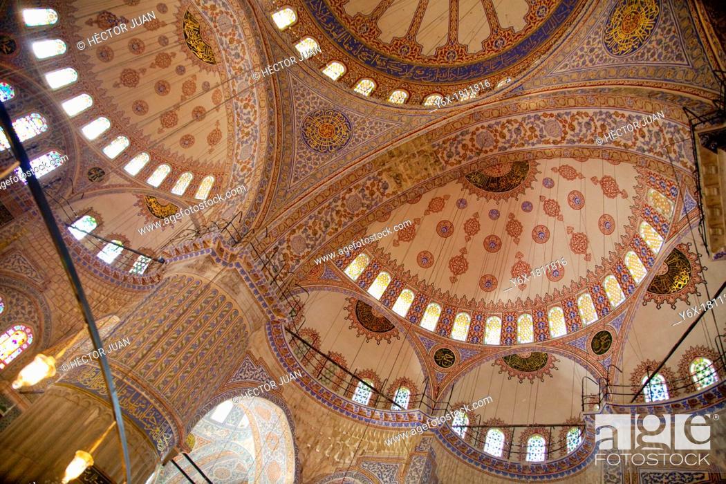 Stock Photo: interior Eyüp Sultan Mosque dome.