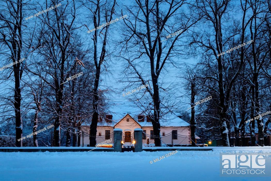 Stock Photo: Historic mansion in Benice village, Turiec region, Slovakia.