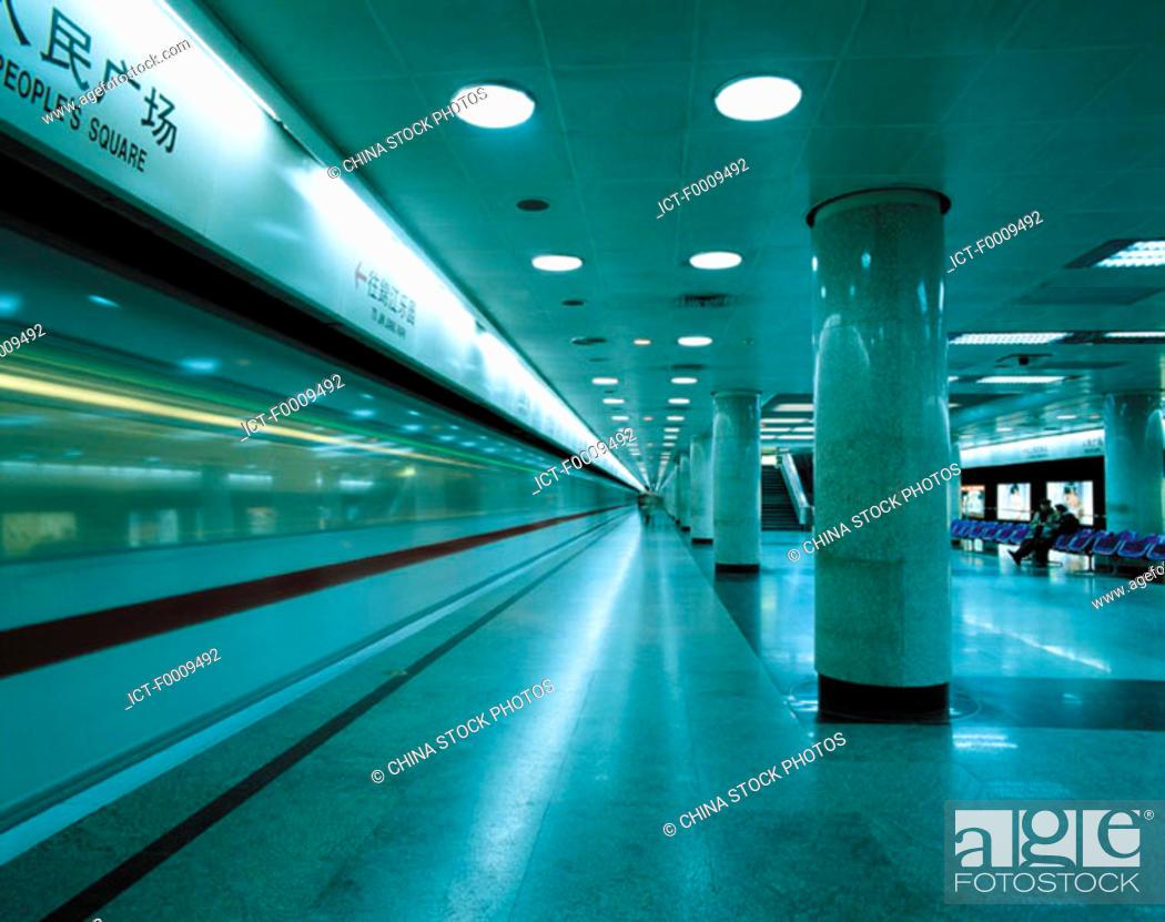 Stock Photo: China, Shanghai, subway.