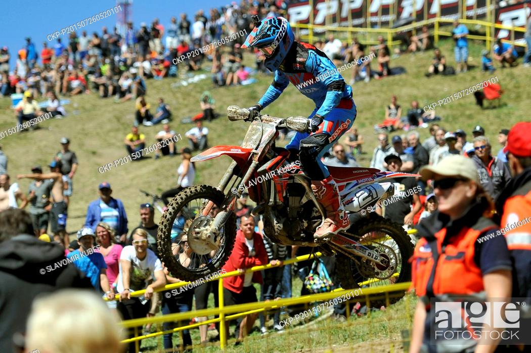 Gautier Paulin from France competes during Motocross FIM