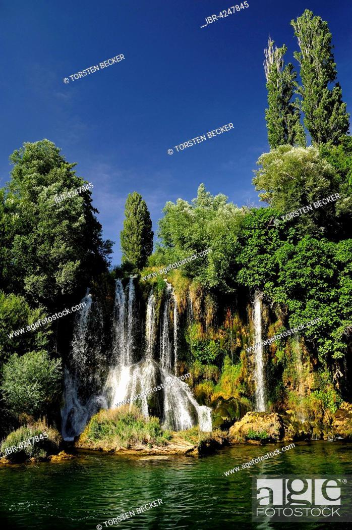 Stock Photo: Roški Slap, waterfall, Krka National Park, Sibenik-Knin County, Dalmatia, Croatia.