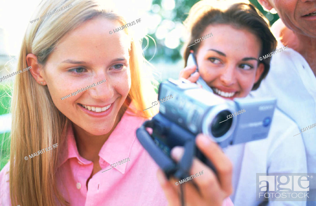 Stock Photo: Multimedia, Videotape, Happy.