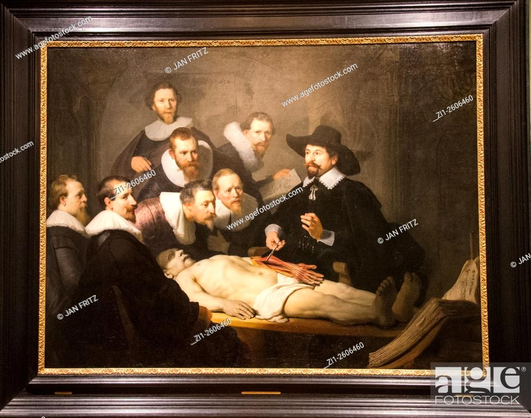 Painting \'the anatomy lesson from dr. Nicolaes Tulp\' from Rembrandt ...