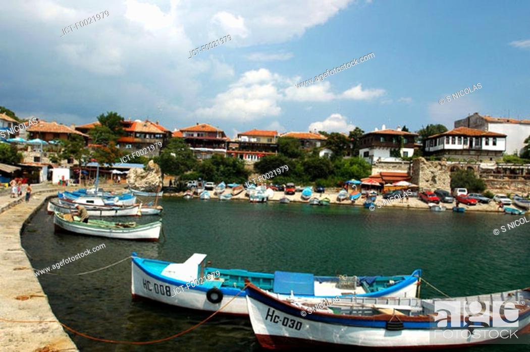 Stock Photo: Bulgaria, Nesebar, fishing port.