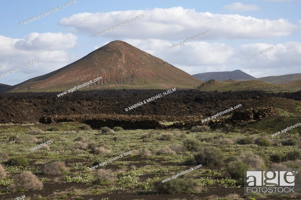 Stock Photo: Volcanic Mount, Canary Islands; Lanzarote; Spain.