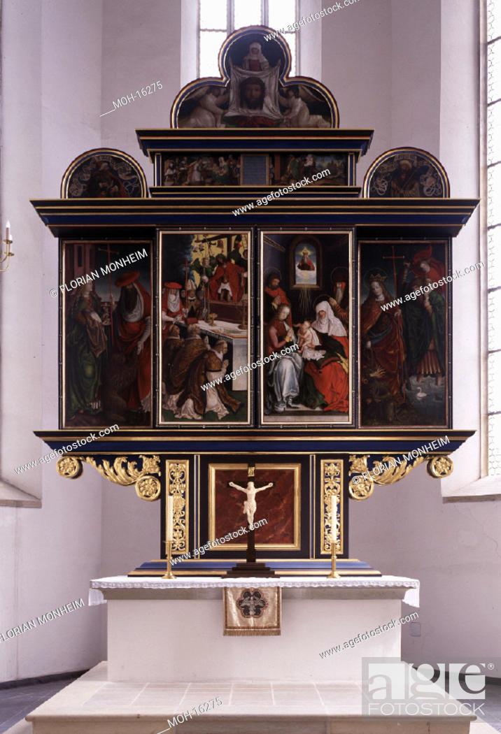 Stock Photo: Annaberg-Buchholz/St. Katharinen, Hochaltar von Hans Hesse.