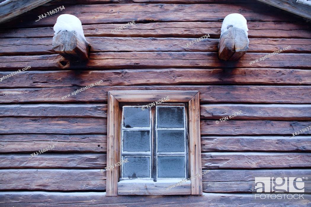 Stock Photo: logcabin in Finland.