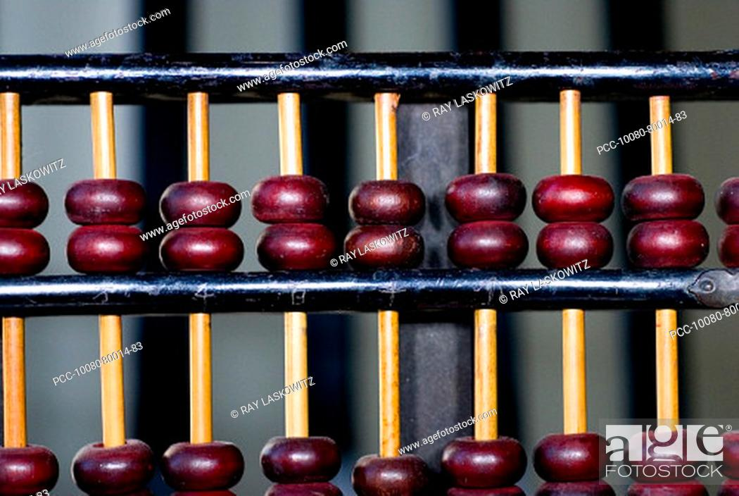 Stock Photo: Close-up of a traditional Chinese counter.