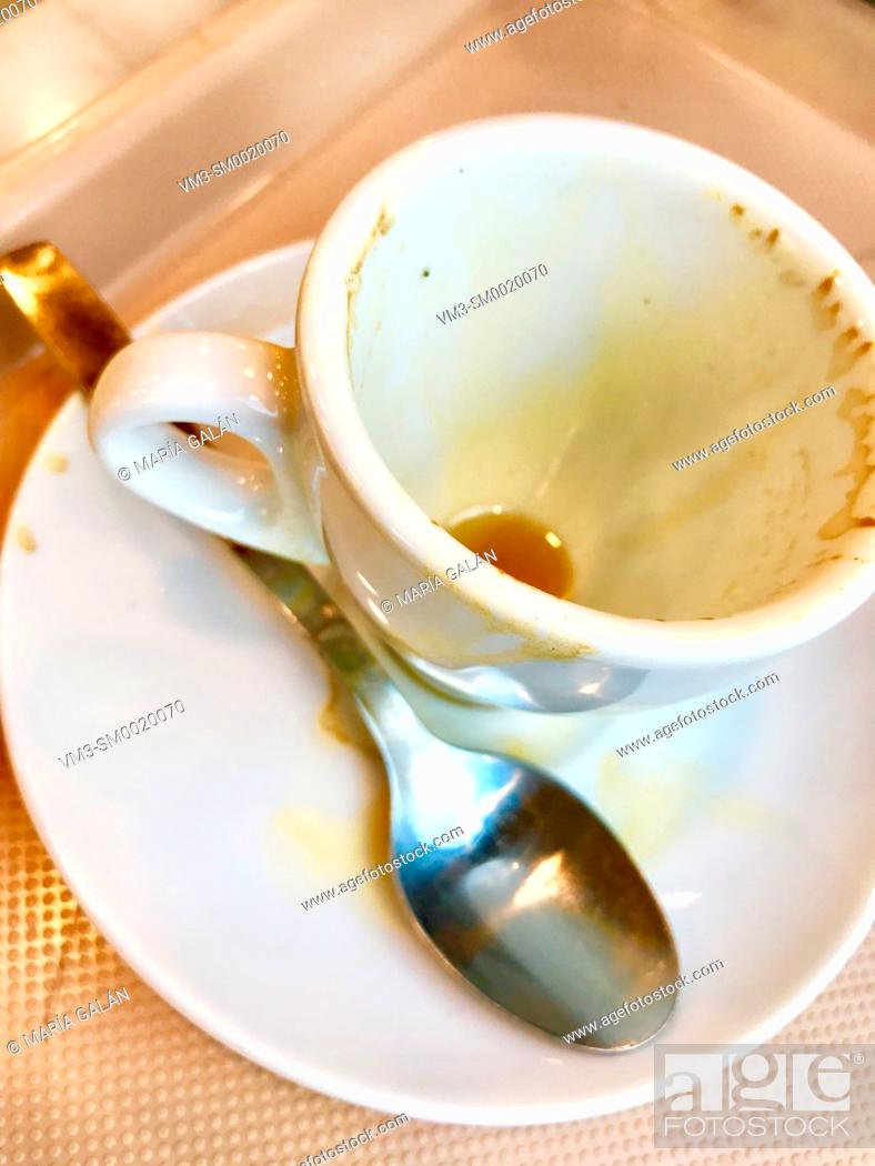 Stock Photo: Empty cup of coffee.