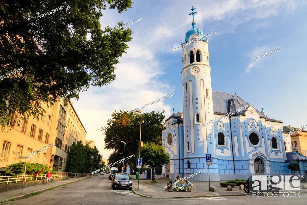 Imagen: Little Blue Church of St. Elisabeth, Bratislava, Slovakia.