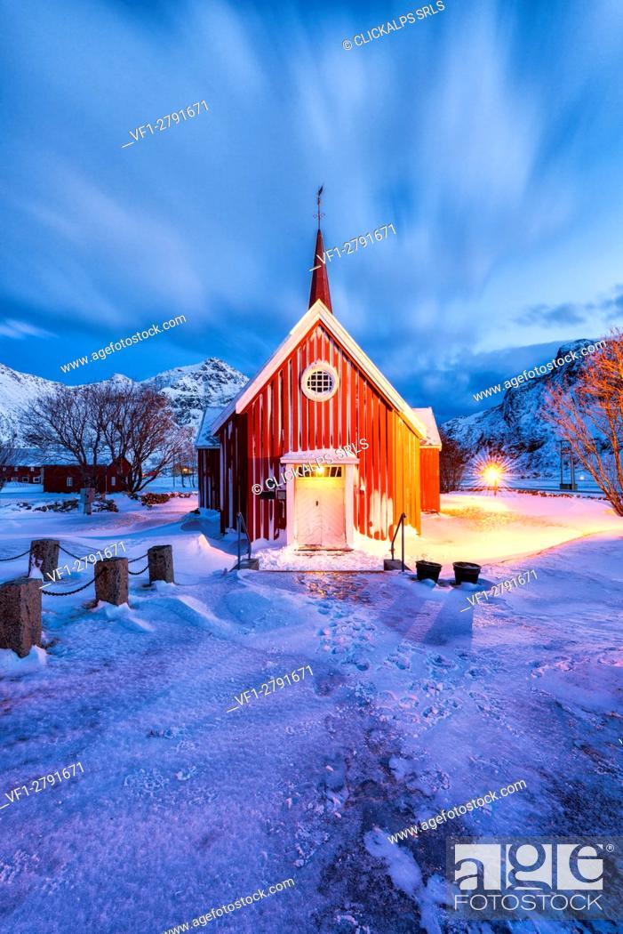 Stock Photo: Flakstad - Lofoten Islands, Norway.