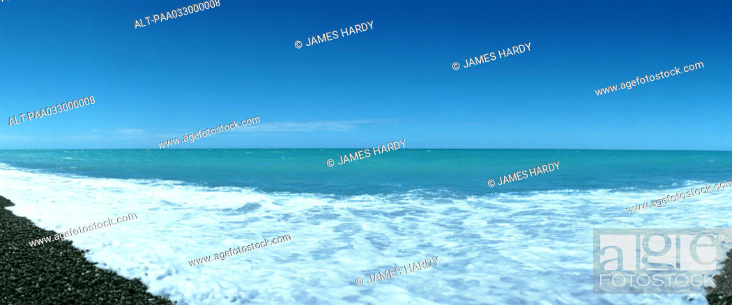 Stock Photo: New Zealand, seascape, panoramic view.
