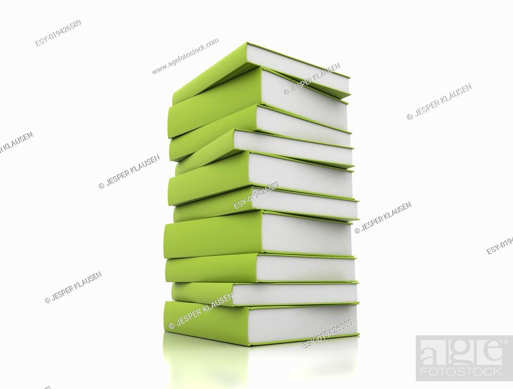 Imagen: Books green on white background.