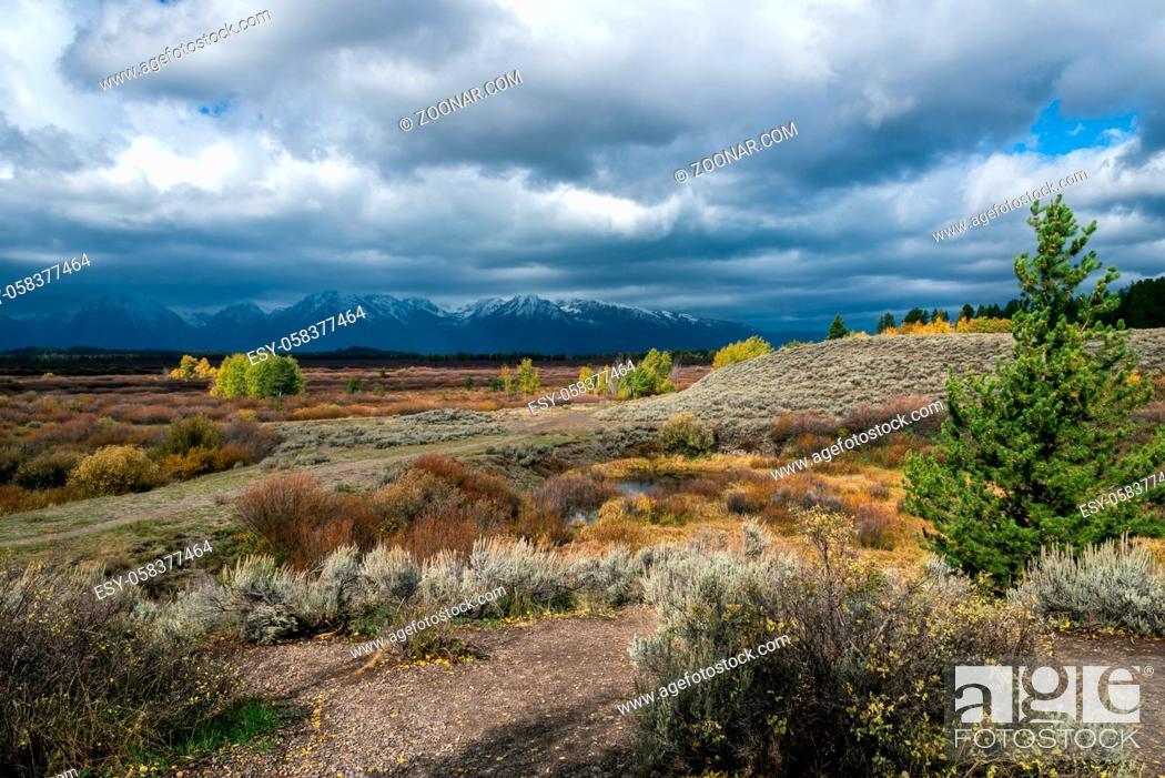 Stock Photo: Grand Teton National Park.