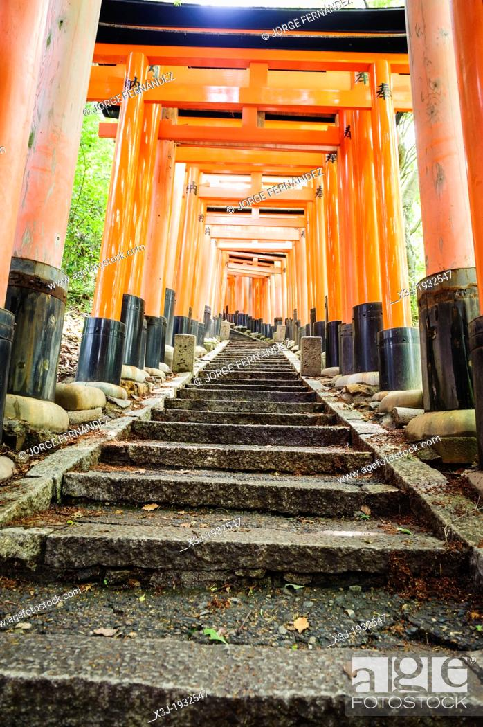 Stock Photo: Details of the Fushimi-Inari-Taisha shrine, Kyoto, Japan, Asia.