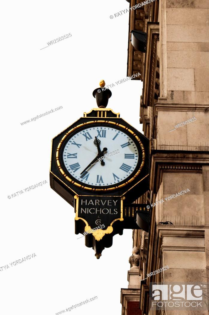 Stock Photo: An old London street clock, London, UK.