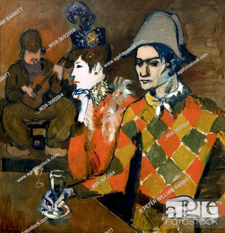 Stock Photo: At the Lapin Agile, Pablo Picasso, 1905, Metropolitan Museum of Art, Manhattan, New York City, USA, North America.