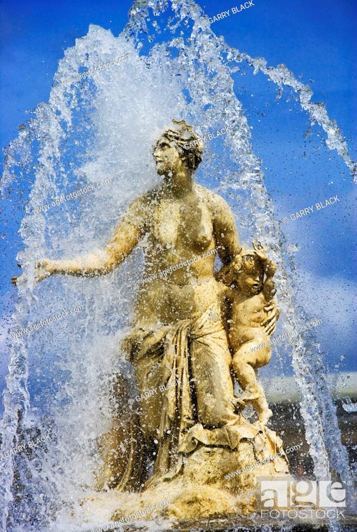 Stock Photo: Fountain of Latona, Gardens of Versailles, France.