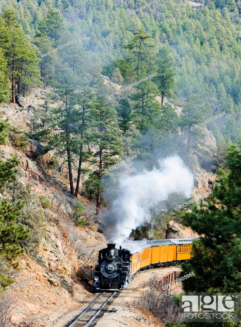 Stock Photo: Durango Silverton Narrow Gauge Railroad, Colorado, USA.