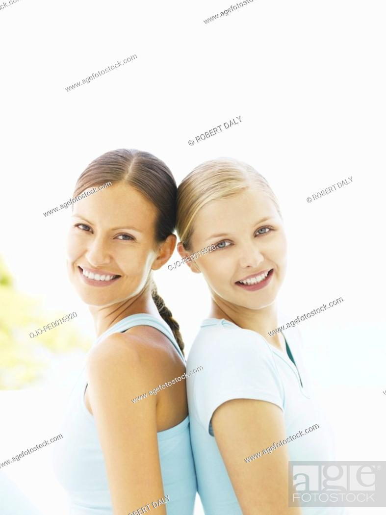 Stock Photo: Two women outdoors.