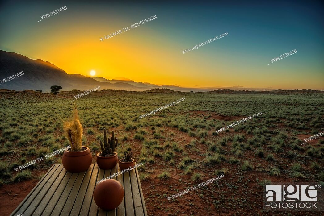 Stock Photo: Sunset by Wolwedans Dunes Lodge, Namibia, Africa.