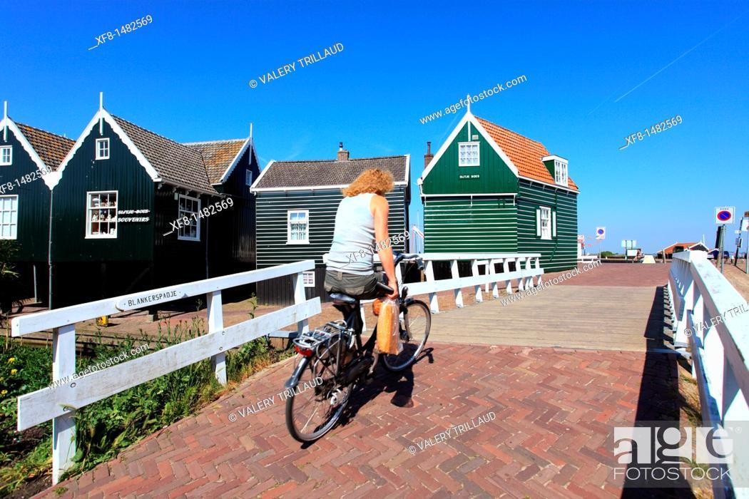 Stock Photo: Coastal village of Marken, Holland, Europe.