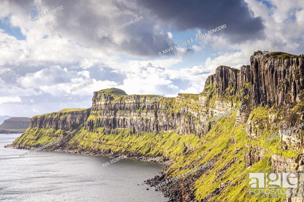 Stock Photo: Kilt Rock view point, Isle of Skye - Ant-Eilean Sgitheanach -, Highlands, Scotland.
