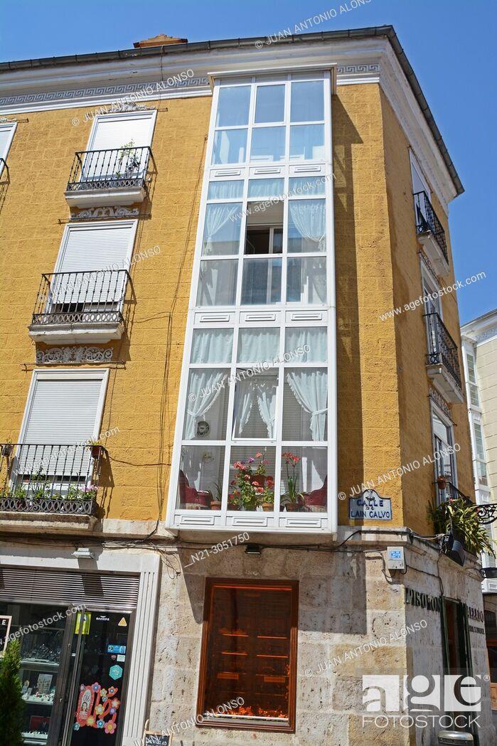 Stock Photo: Apartment building. Burgos, Castilla y León, Spain.