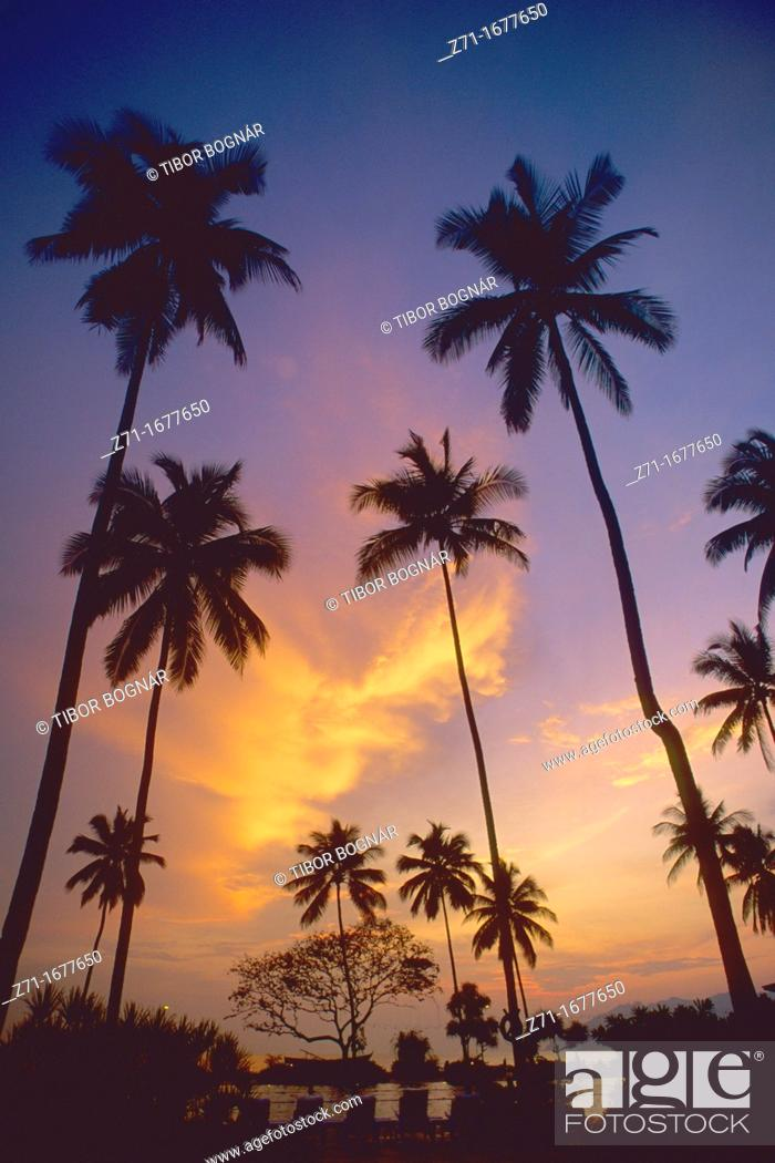 Stock Photo: Malaysia Langkawi Island sunset.