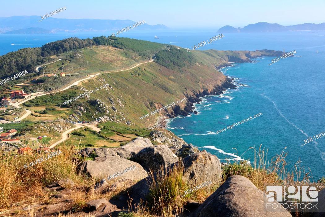 Stock Photo: Cabo Home, Ria de Vigo, Cangas, Pontevedra province, Galicia, Spain.