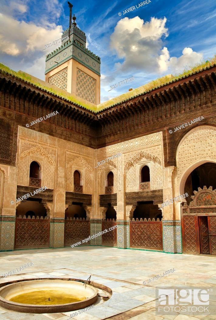 Photo de stock: Medersa Bou Inania, Fez El-Bali, Fes, Morocco.