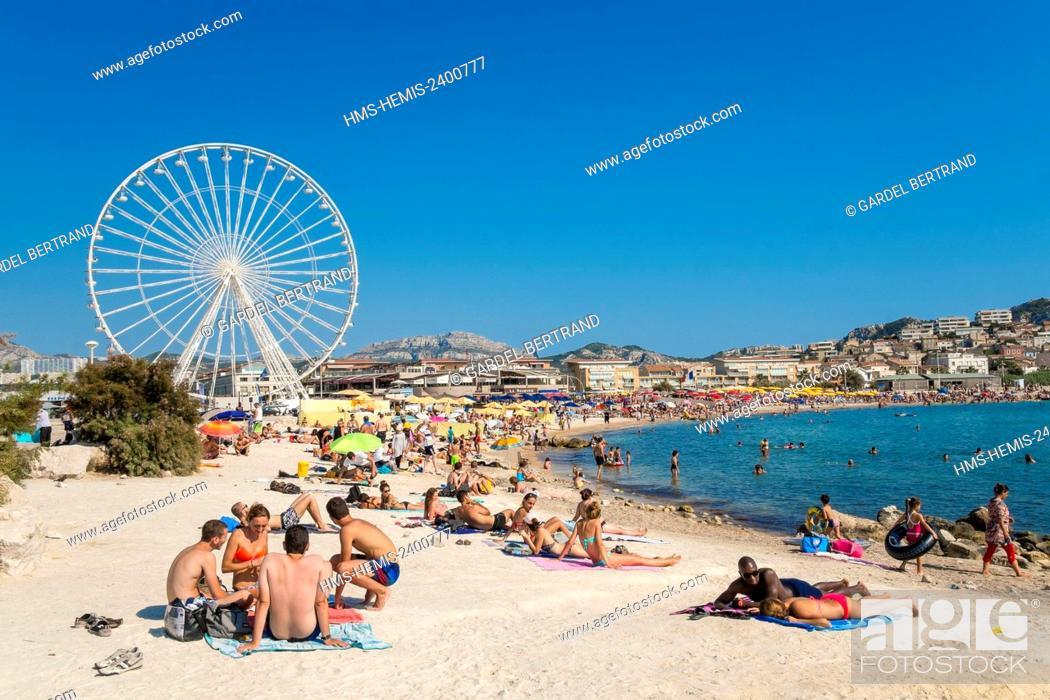 France Bouches Du Rhone Marseille The Prado Beaches The Borely