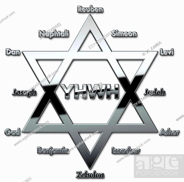 12 Tribes Of Israel With Names Stock Photo Picture And Low Budget