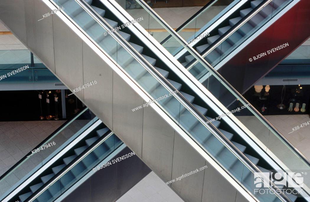 Stock Photo: Escalators, Amsterdam. Holland.
