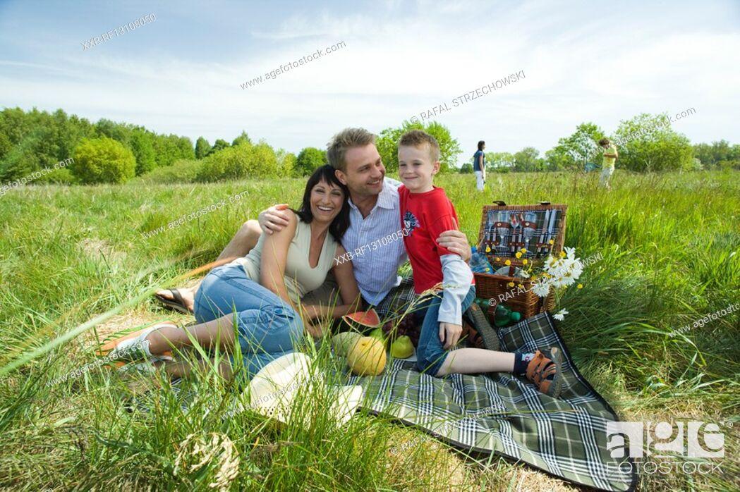 Stock Photo: family at picninc.