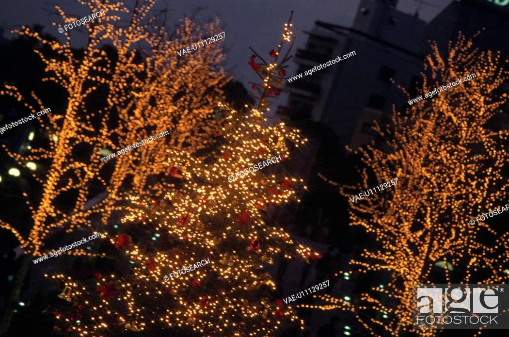 Stock Photo: Christmas Illuminations.