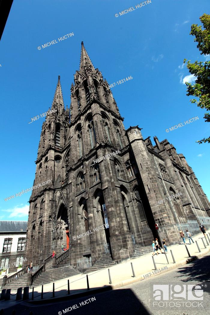 Stock Photo: Cathedral, Clermont-Ferrand, Puy-de-Dome, Auvergne, France.