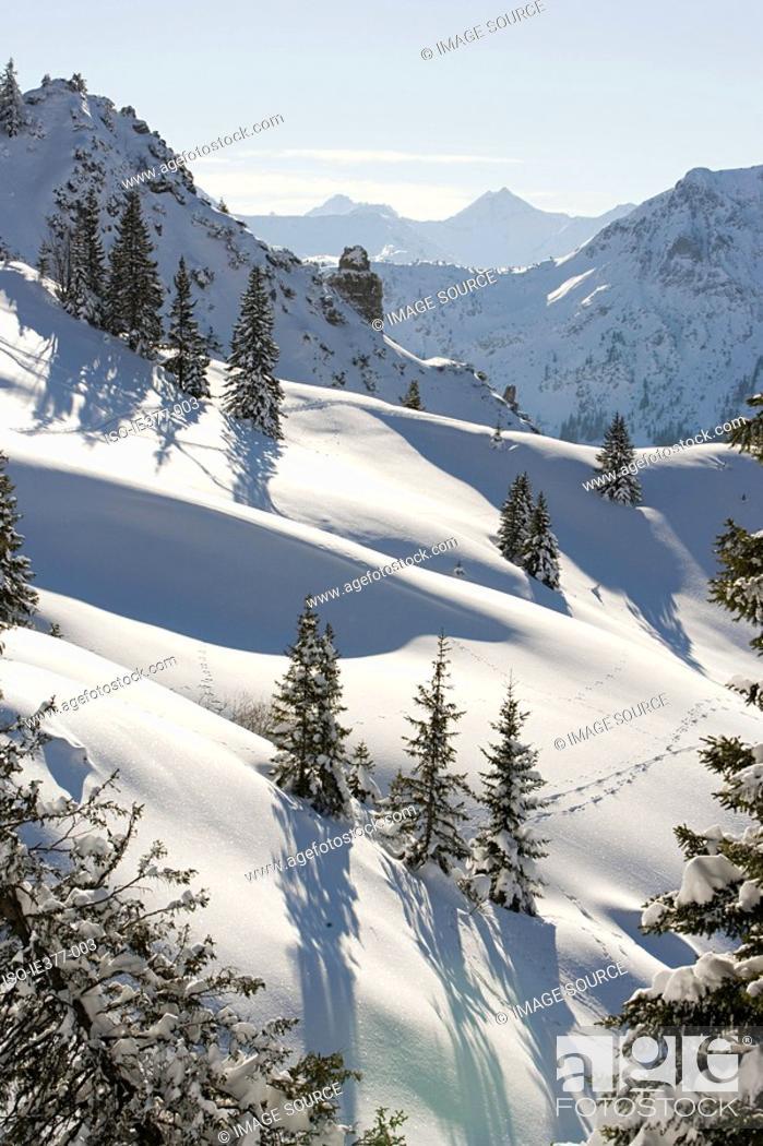 Stock Photo: Snowy mountains.