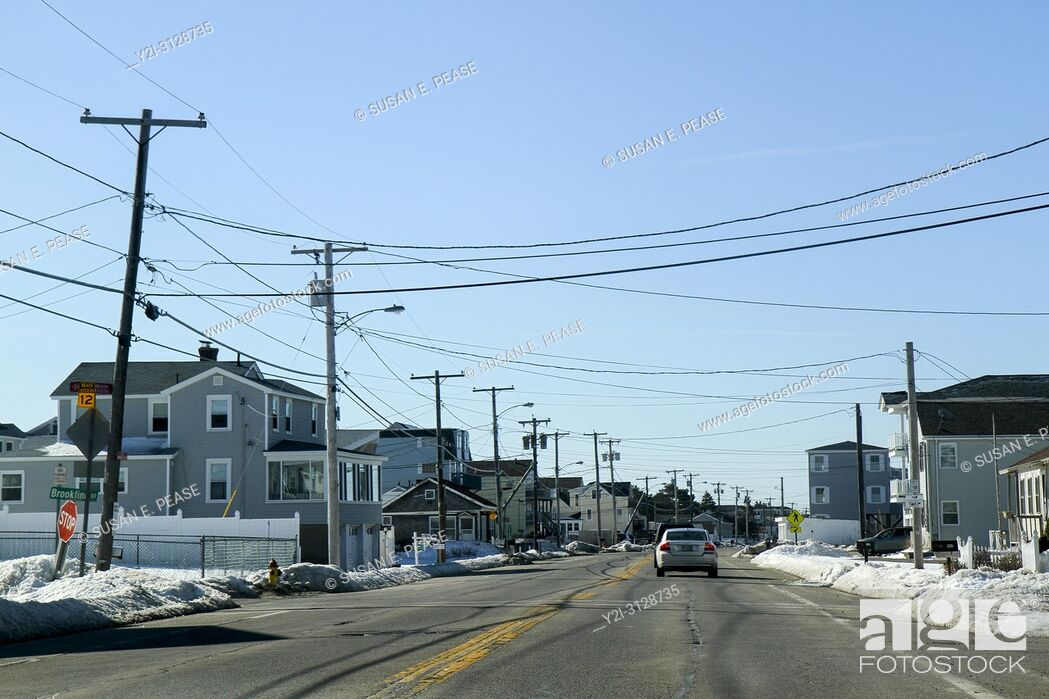 Stock Photo: Winter in Seabrook, New Hampshire, United States.