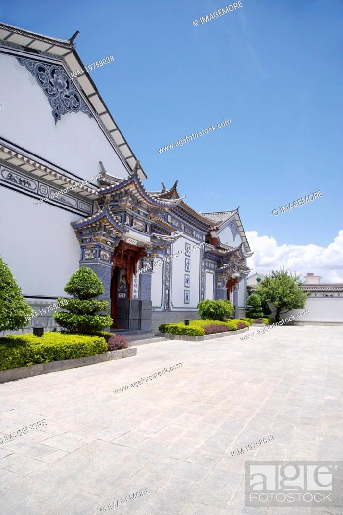 Stock Photo: China, Yunnan Province, Architectural Feature about Bai Minority.