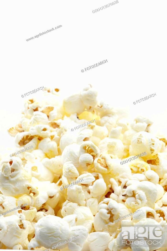 Stock Photo: Heap of popcorn.