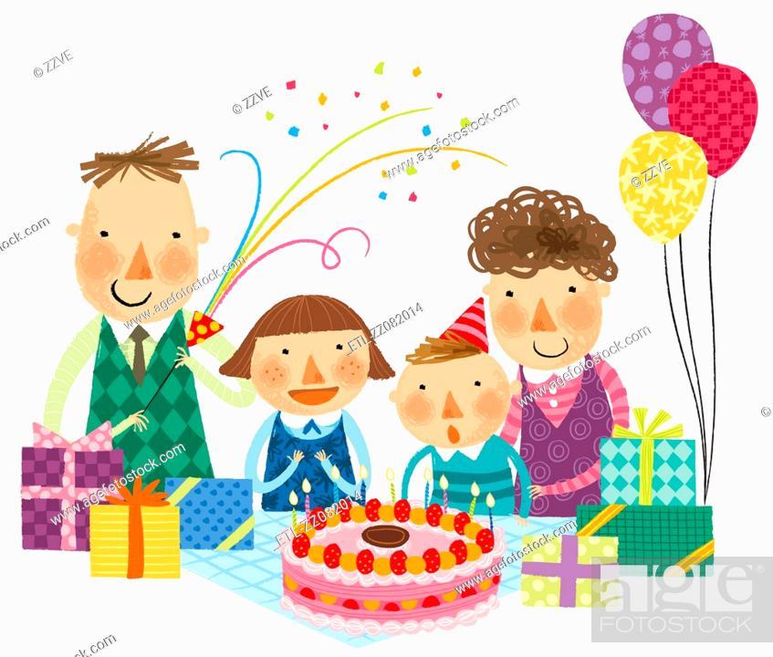 Stock Photo: Happy birthday celebration.