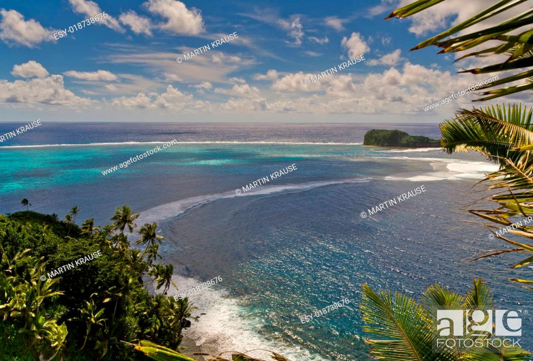Stock Photo: island view from the top.