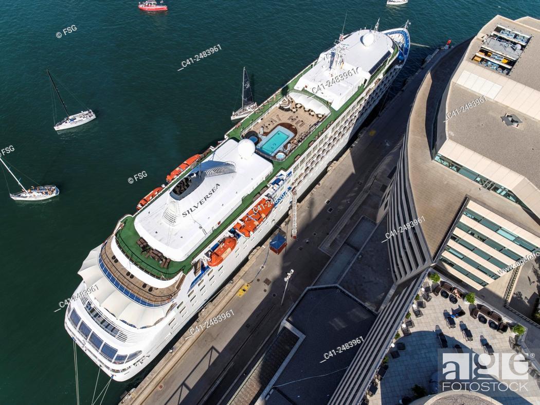 Stock Photo: Port of Barcelona. Spain.