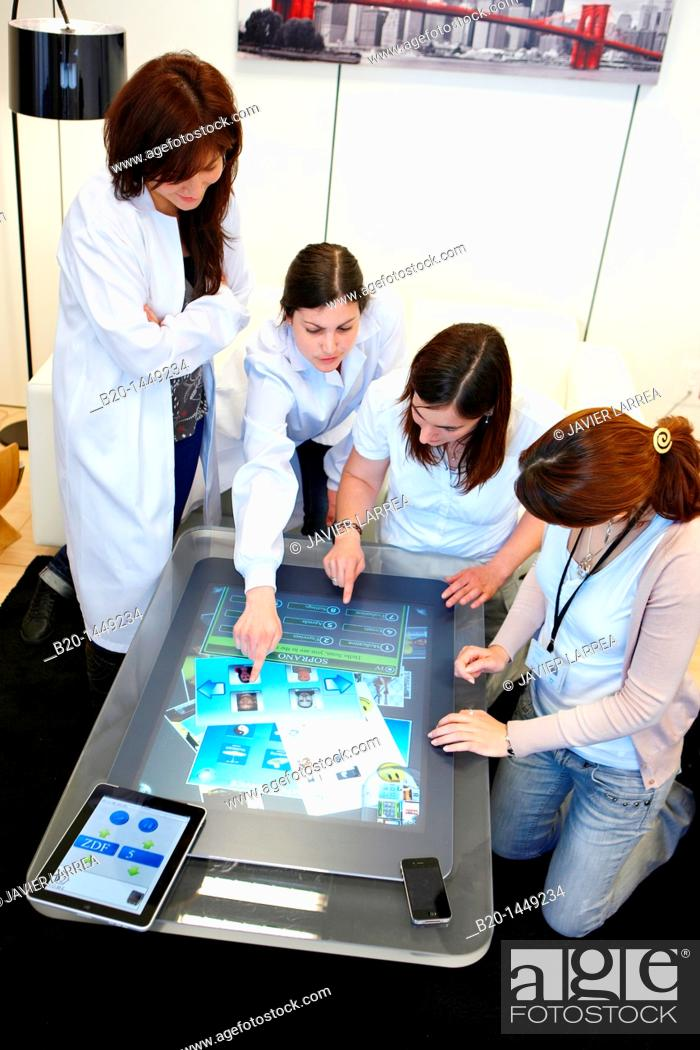 Stock Photo: Multi-touch interaction, Health and Biomedical applications, Vicomtech-IK4 Visual Interaction and Communication Technologies Centre.