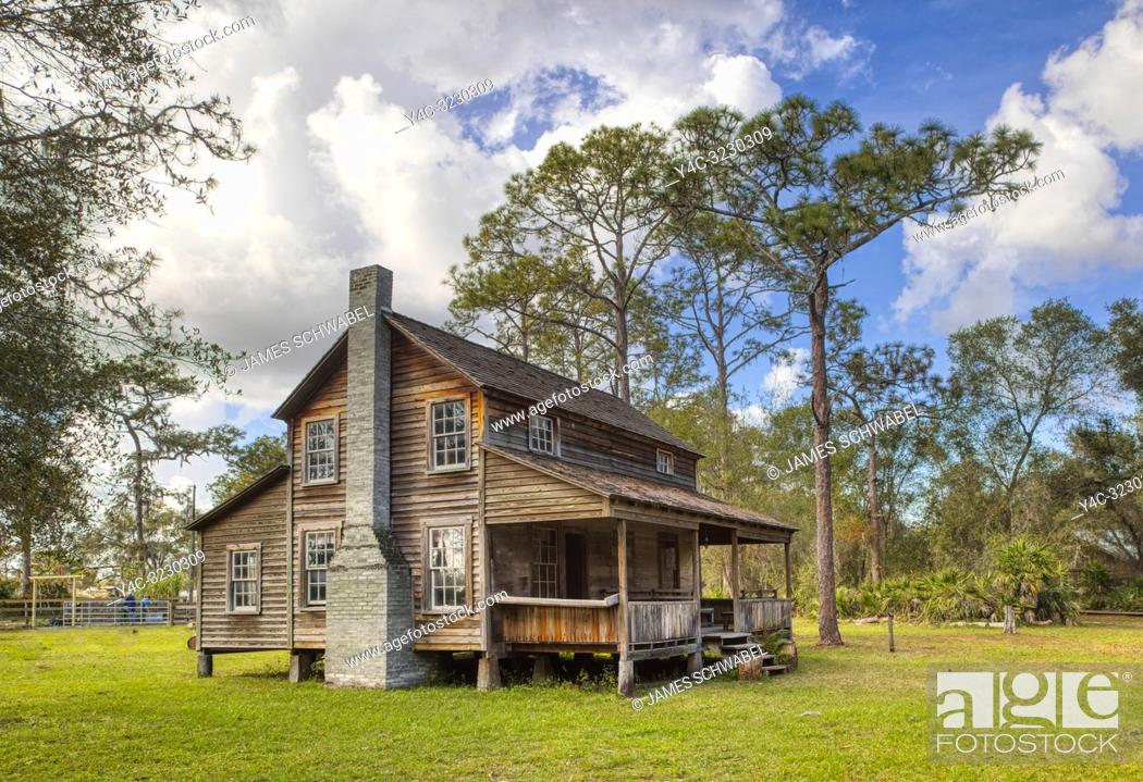Stock Photo: Tatum House at Crowley Museum & Nature Center in Sarasota Florida.