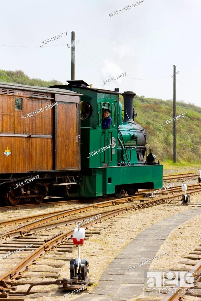 steam tram, RTM, Ouddorp, Netherlands, Stock Photo, Picture